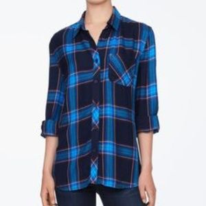 S NWT beachlunchlounge Bailey Flannel in Blue